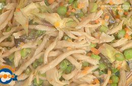 strozzapreti con funghi e verdure di Alessandra Spisni