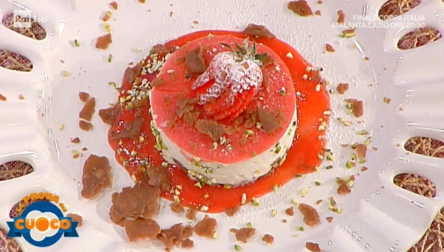 cheesecake siciliana ricotta e fragole di Natale Giunta