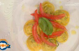 ravioli di melanzane e mozzarella al pomodoro di Claudio Sadler e Tommaso Arrigoni