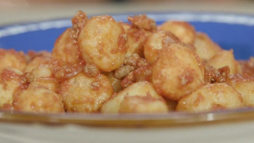 gnocchi di ricotta con formaggio Piave stravecchio