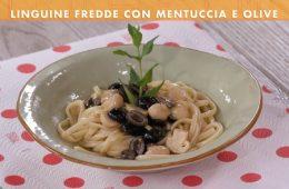 linguine fredde con mentuccia e olive