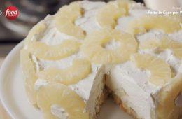 torta fredda all'ananas