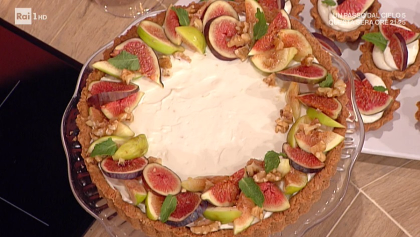 torta crema e fichi di Natalia Cattelani