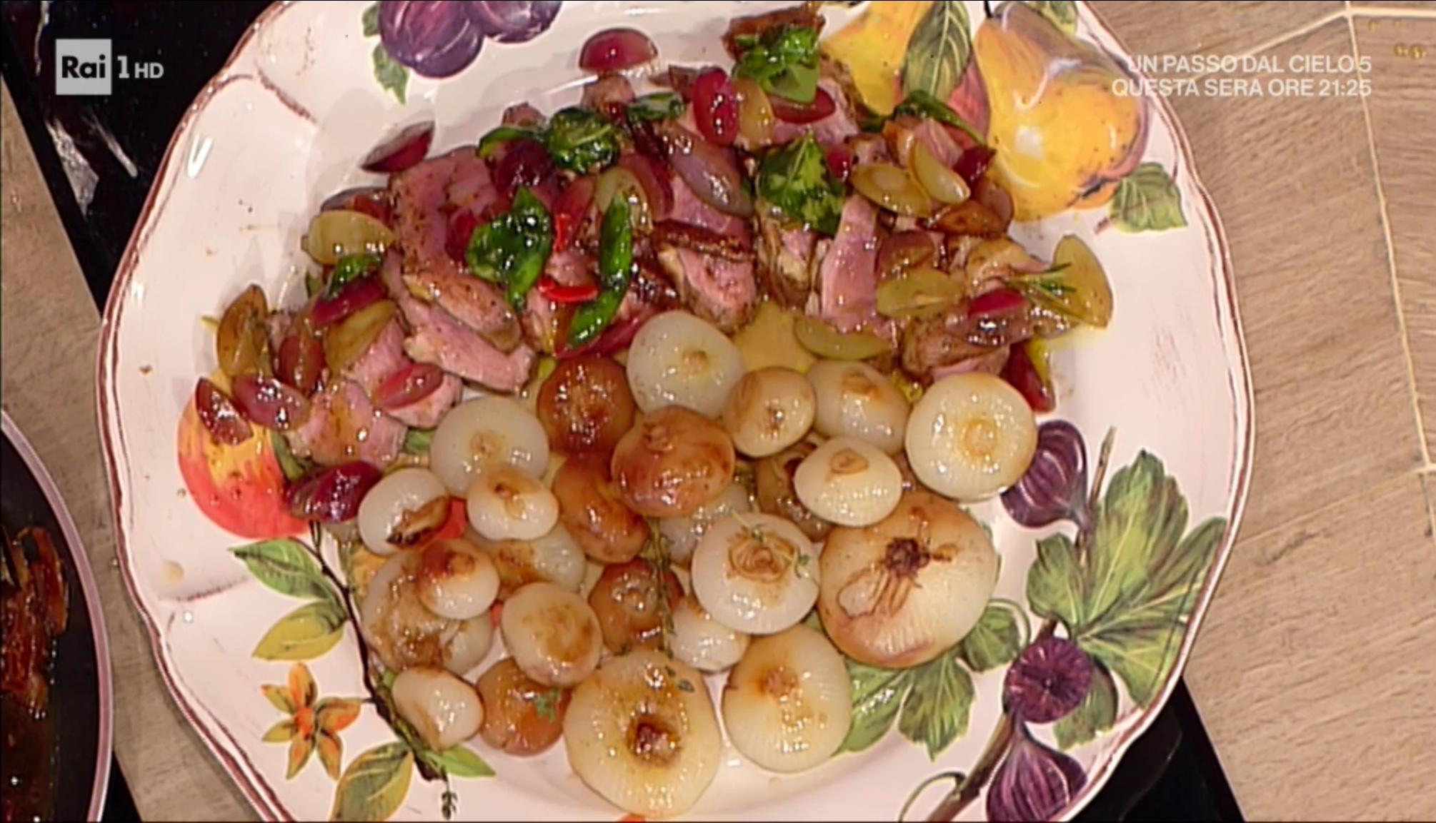 petto d'anatra con uva e fichi secchi di Luisanna Messeri
