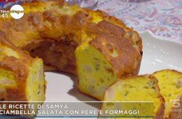 ciambella salata pere e formaggi