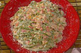 tagliatelle verdi con peperoni e mascarpone