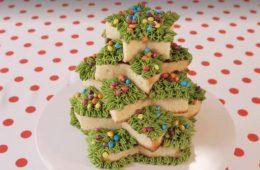 torta albero di Natale di Pan di Spagna