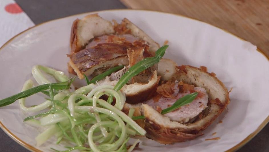 filetto di maiale in crosta di pane