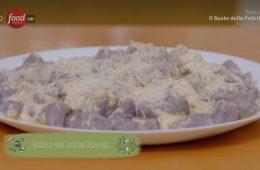 gnocchi viola in salsa di noci