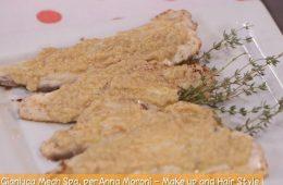 orata grigliata in salsa di acciughe