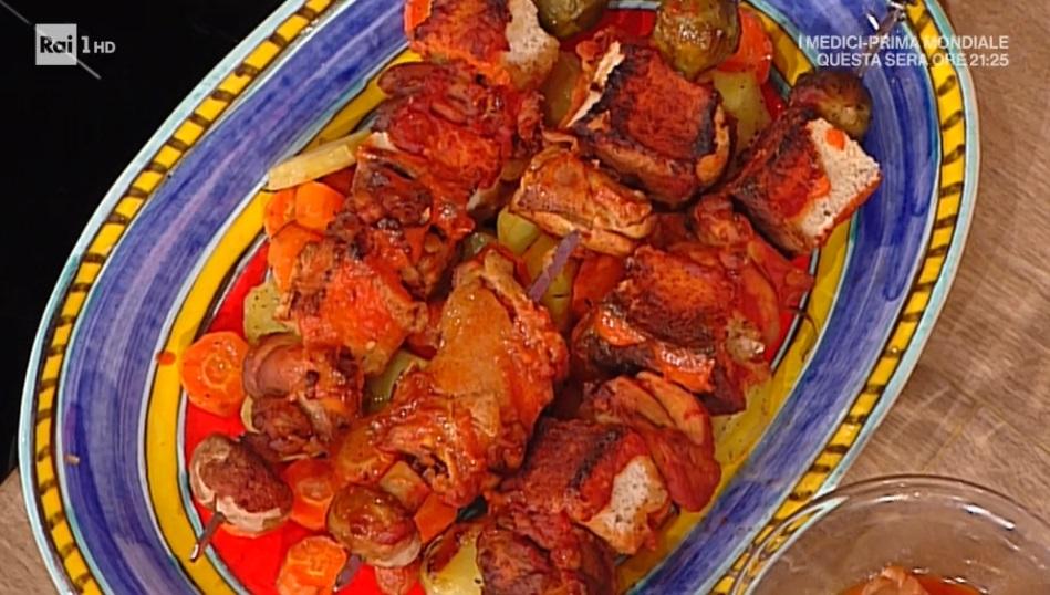 spiedini di pollo con salsa piccante di David Povedilla