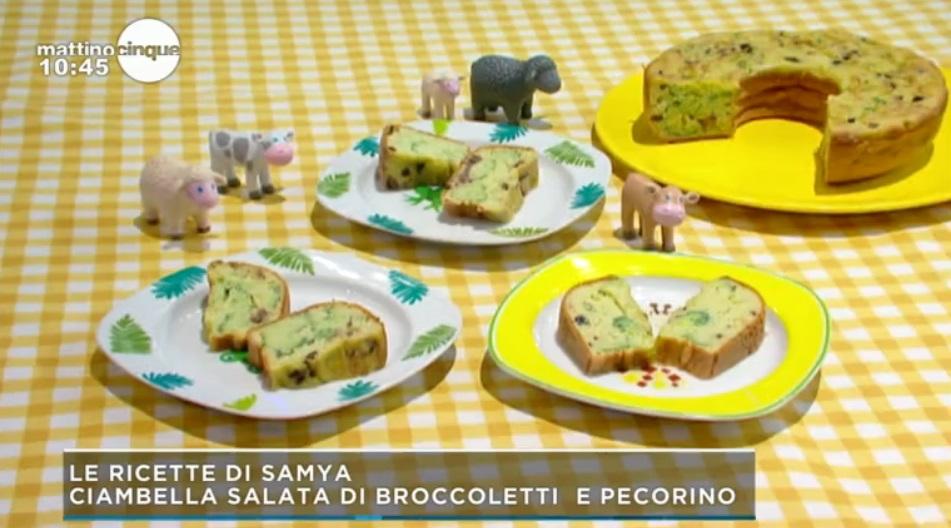ciambella salata di broccoletti e pecorino