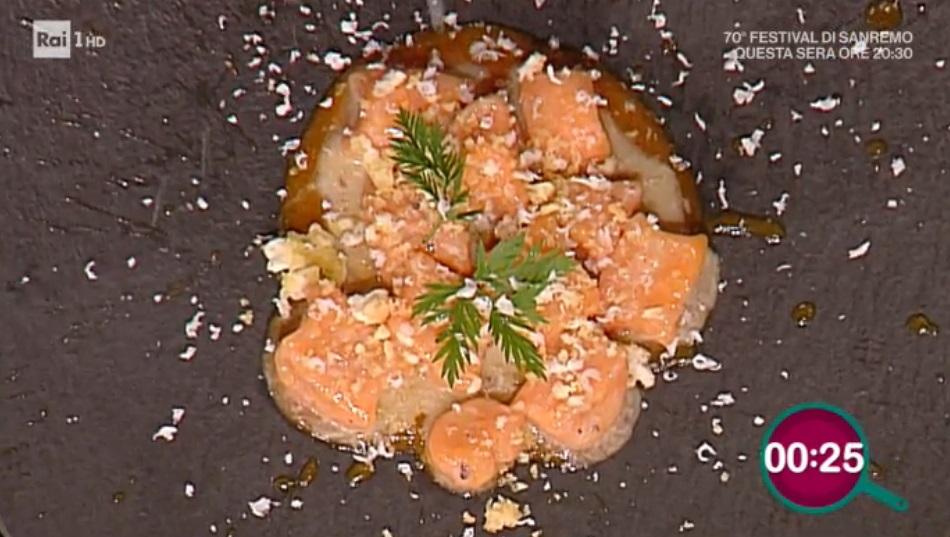 gnocchi di carote con burro e alici di Natale Giunta