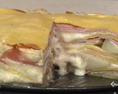 millefoglie gorgonzola e mortadella