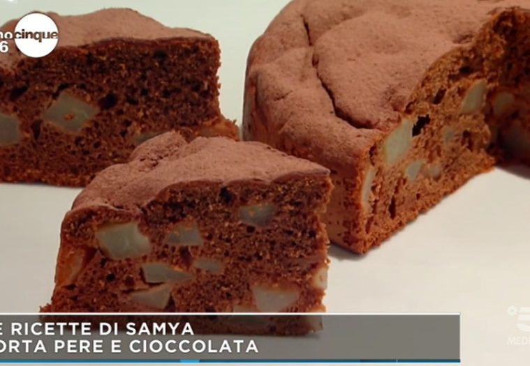 torta alle pere e cioccolato