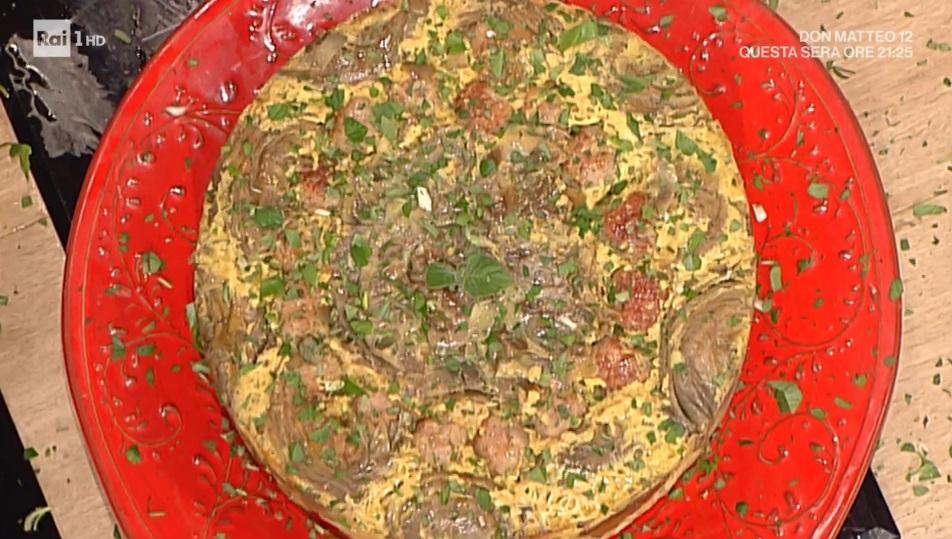 timballo di pasta e carciofi di Luisanna Messeri