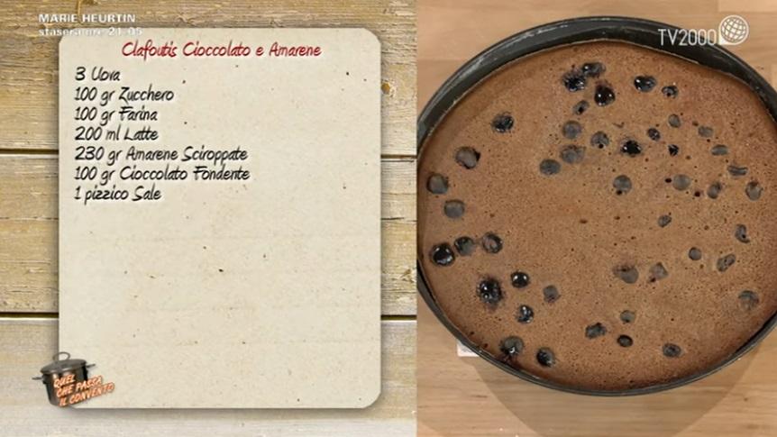 clafoutis cioccolato e amarene