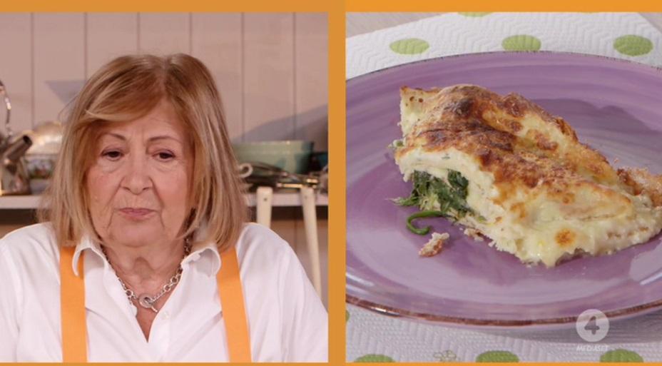 crespelle all'arancia con casatella e spinaci di Anna Moroni