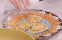 ravioli di mare con bottarga