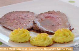roast beef con patate duchessa