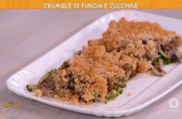 crumble di funghi e zucchine