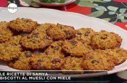 biscotti al muesli con miele
