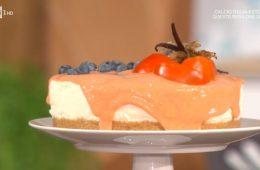 cheesecake con salsa di cachi di zia Cri