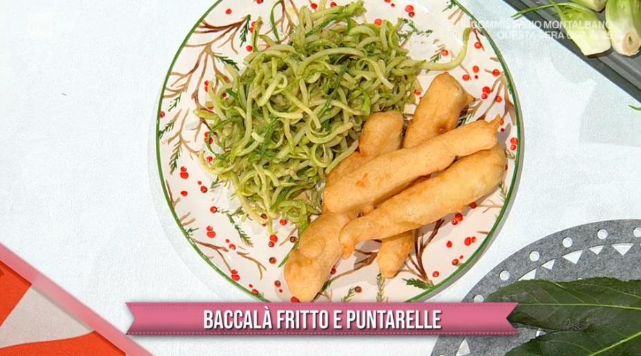 baccalà fritto e puntarelle di Gian Piero Fava