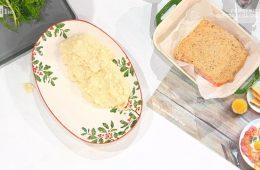 salmone in crosta di nocciole con purè di finocchi di zia Cri