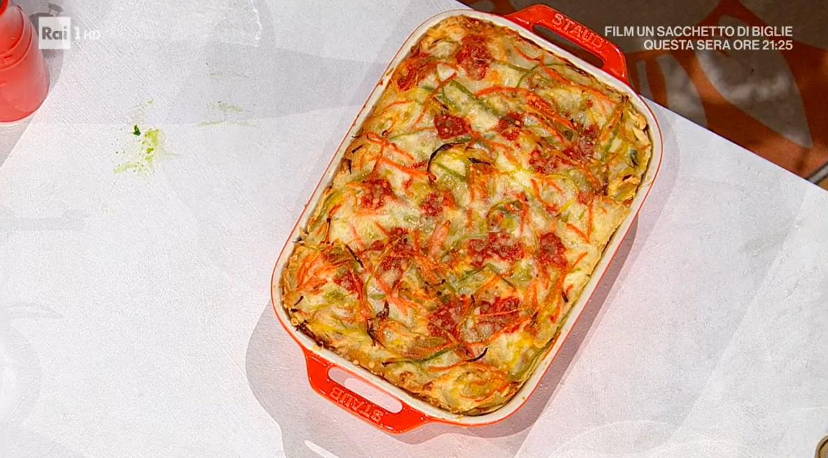 lasagnetta di carasau alle verdure di Michele Farru