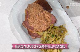 manzo all'olio con carciofi allo zenzero di Francesca Marsetti