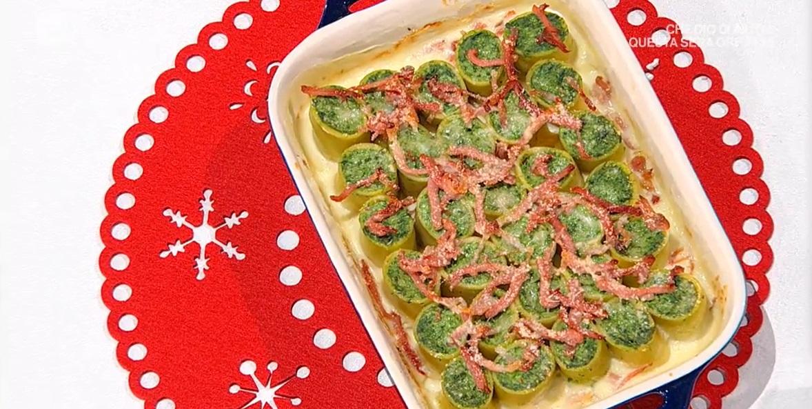 paccheri ripieni con ricotta spinaci e speck di Francesca Marsetti