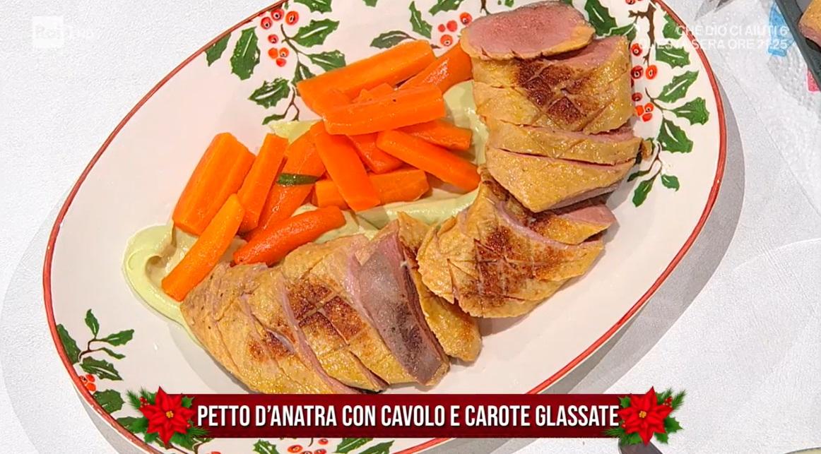 petto d'anatra con cavolo e carote glassate di Michele Farru