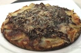 tortino di patate e radicchio