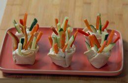 cestini di pancarrè con verdure