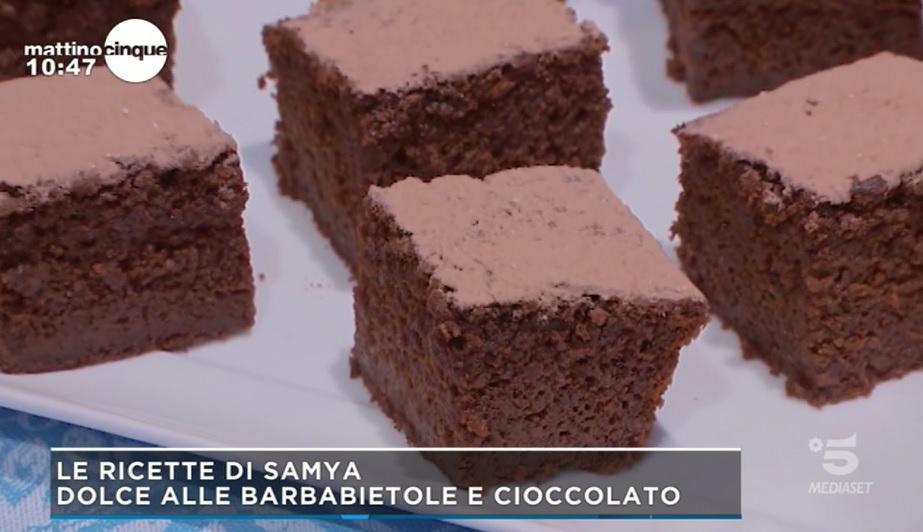 dolce alle barbabietole e cioccolato