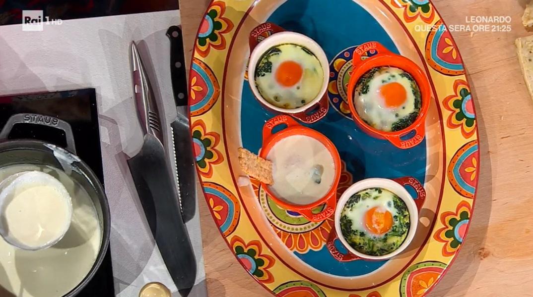 uova in cocotte spinaci e fonduta di zia Cri