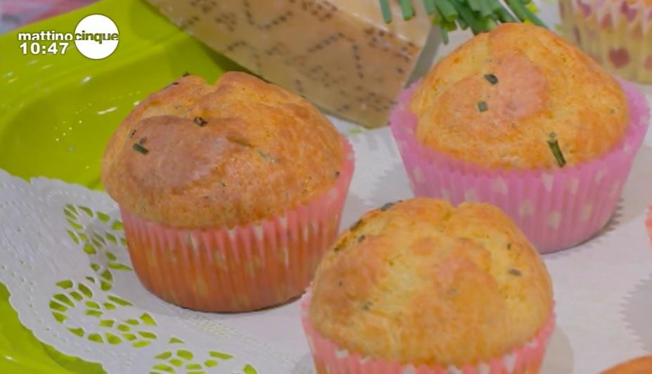 muffin con erba cipollina e grana