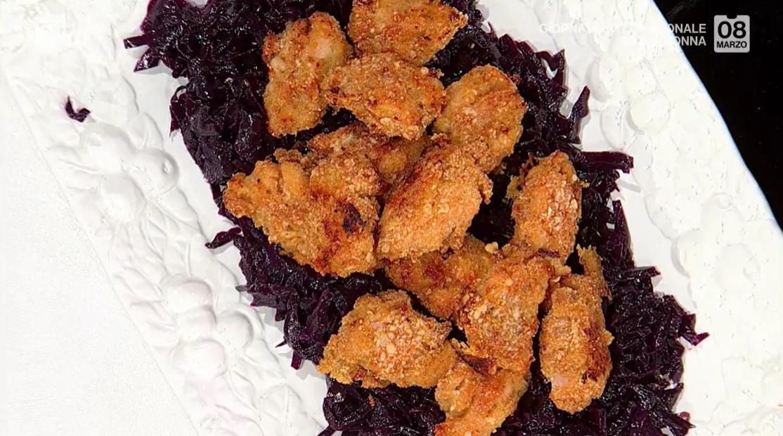 pollo croccante con cavolo cappuccio in agrodolce di Barbara De Nigris