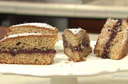 torta al grano saraceno e frutti di bosco