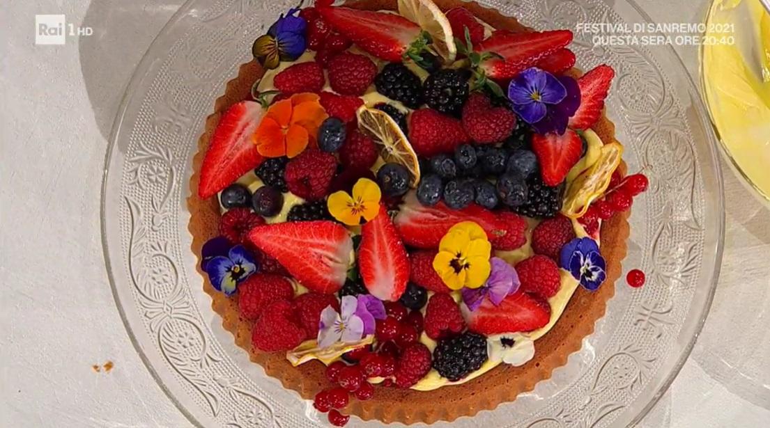 torta di frutta con crema al limone di zia Cri