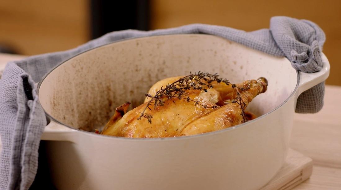 pollo arrosto in cocotte di Csaba