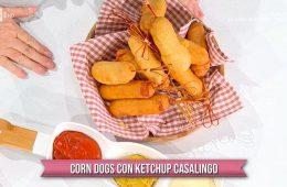 corn dogs con ketchup casalingo di zia Cri