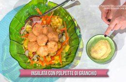 insalata con polpette di granchio
