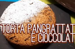 torta pangrattato e cioccolato