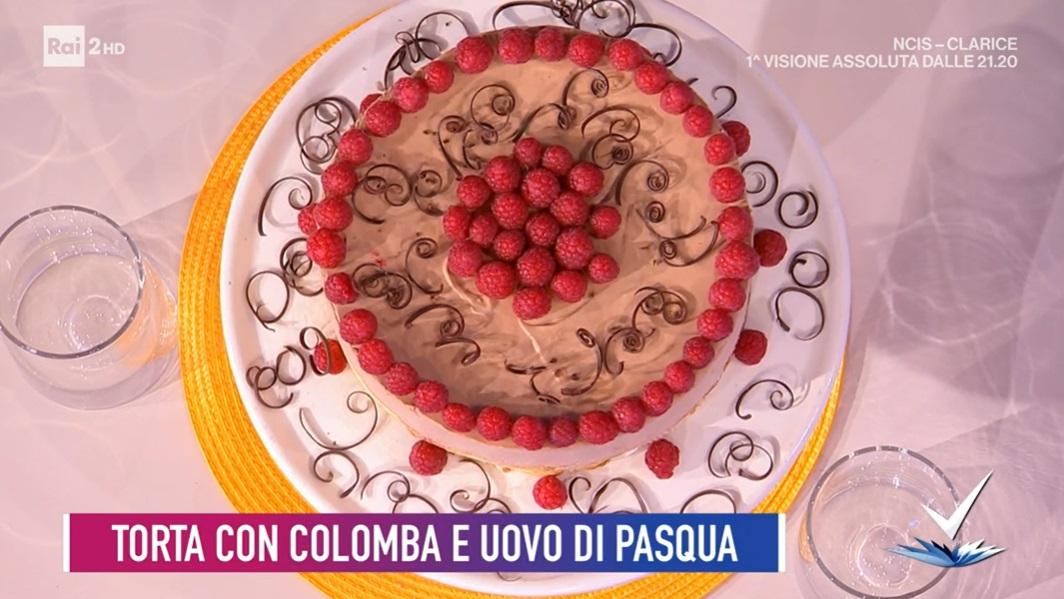 torta con colomba ed uova