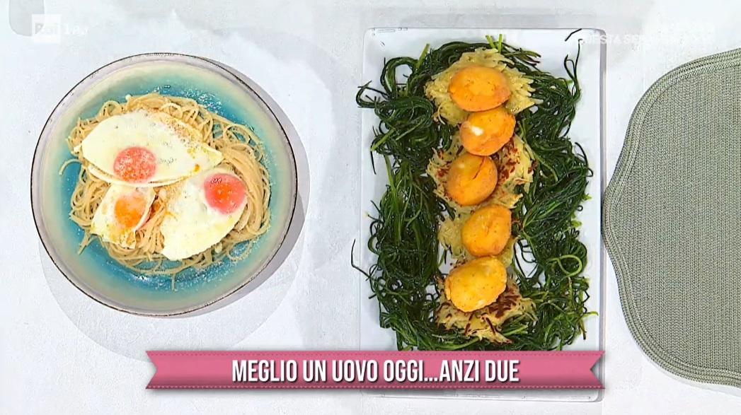 uova alla monachina e spaghetti del poverello di Mauro e Mattia Improta