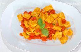 plin ripieni di pomodoro e mozzarella di Ivano Ricchebono
