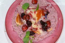 risotto alle ciliegie e raspadura di Sergio Barzetti