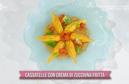 cassatelle con crema di zucchine fritte